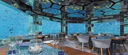 Underwater Restaurant, Maladewa (foto: pouted.com)